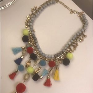 Colorful adjustable necklace